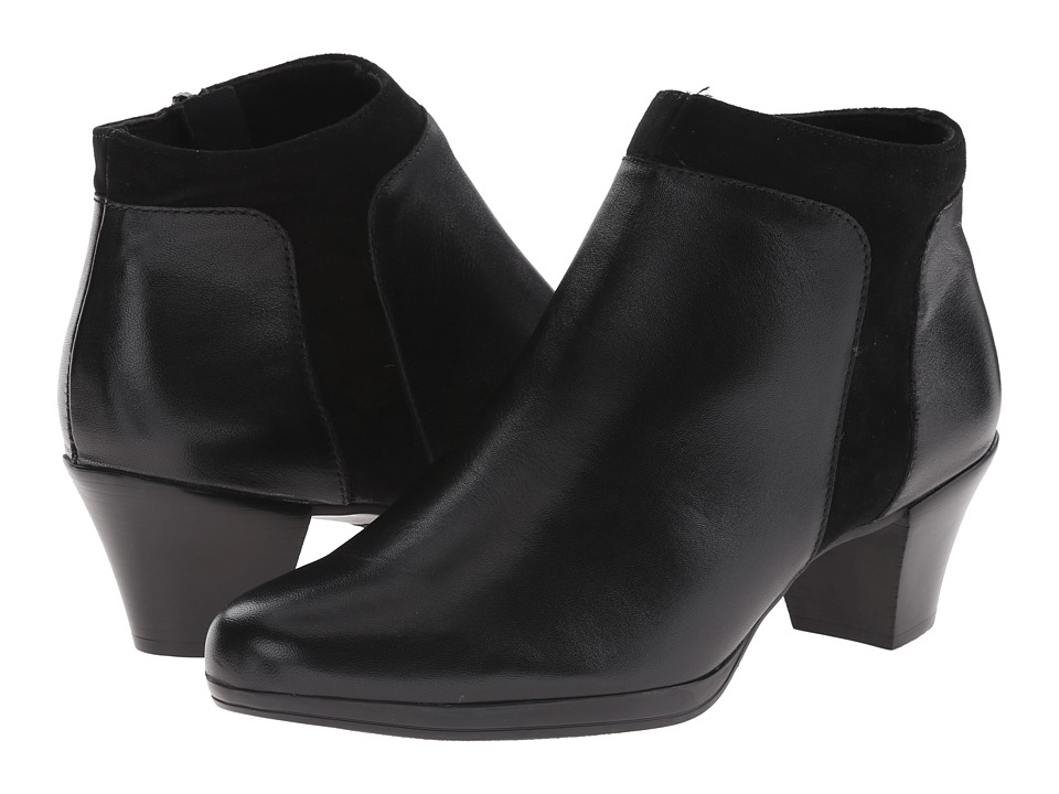 Munro American Hope Black Leather/Suede High Heels