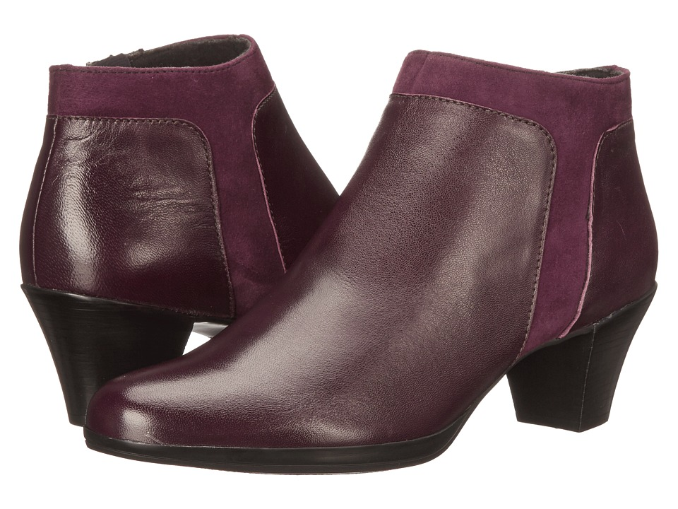 Munro American Hope Wine Leather/Suede High Heels