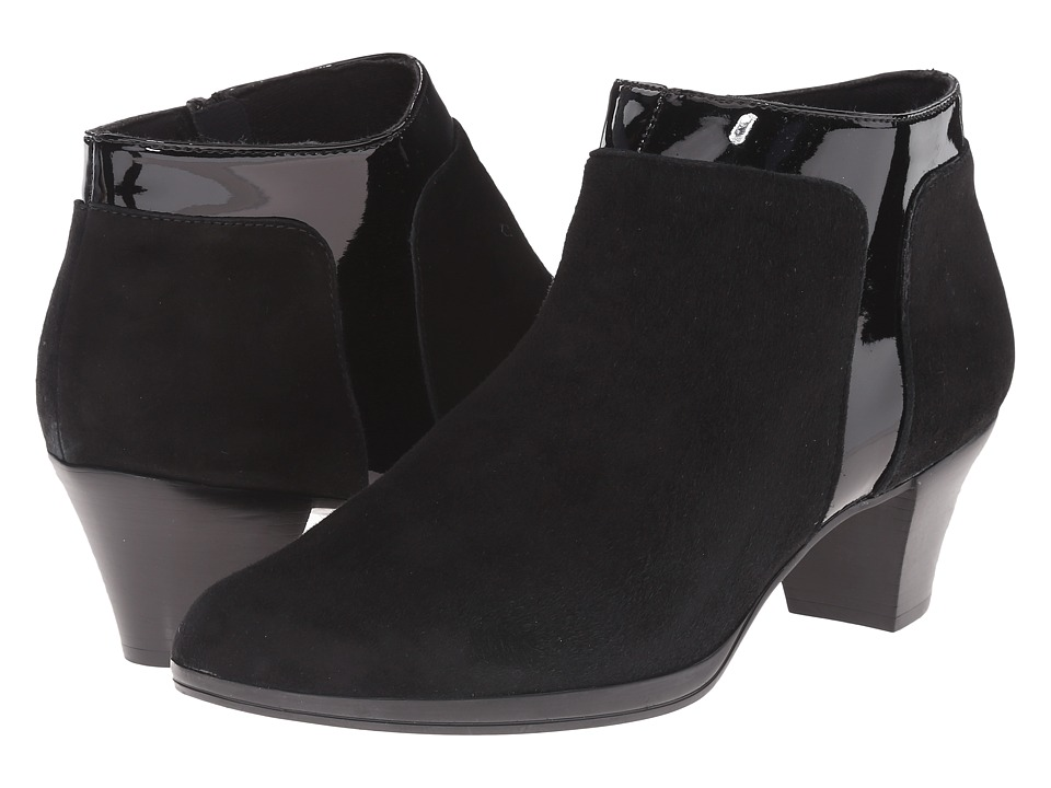 Munro American Hope Black Suede/Patent High Heels