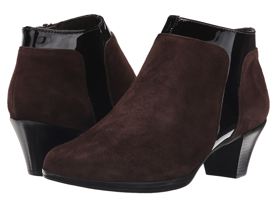 Munro American Hope Chocolate Suede/Patent High Heels