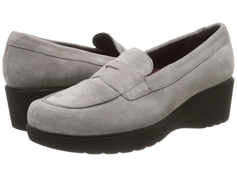 Munro American Katie Grey Calf Suede Womens Slip on Shoes