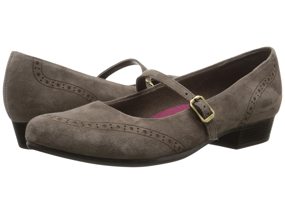 Munro American Whitney Grey Suede Womens Slip on Shoes