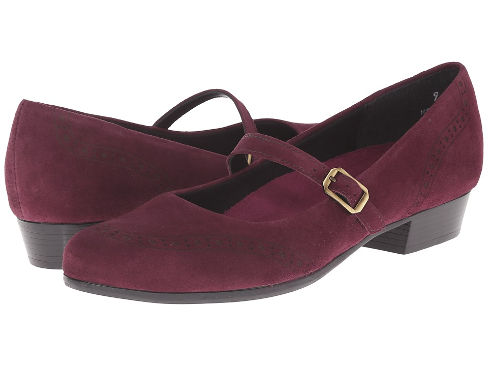 Munro American Whitney Wine Suede Womens Slip on Shoes