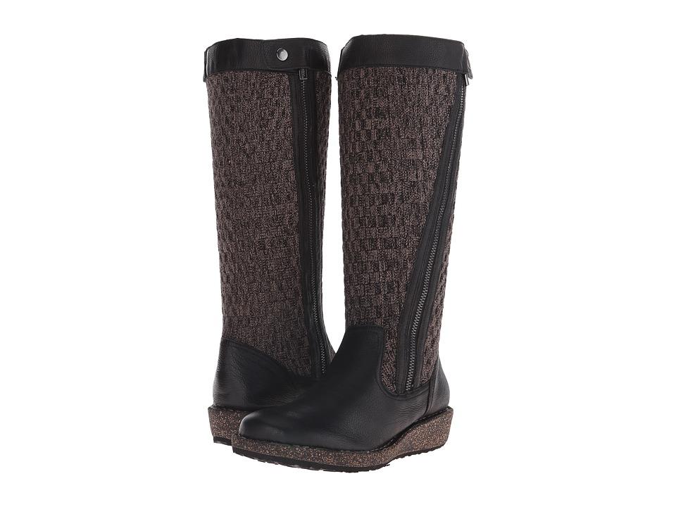 Aetrex Sundance Amber Black Womens Zip Boots