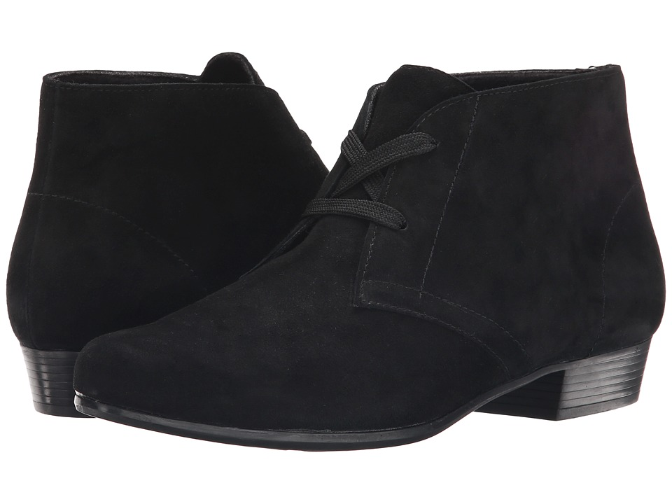 Munro American Sloane Black Suede Womens Lace up Boots