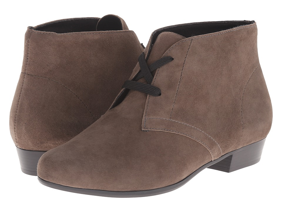 MUNRO Sloane (Greige Suede) Women's Lace-up Boots