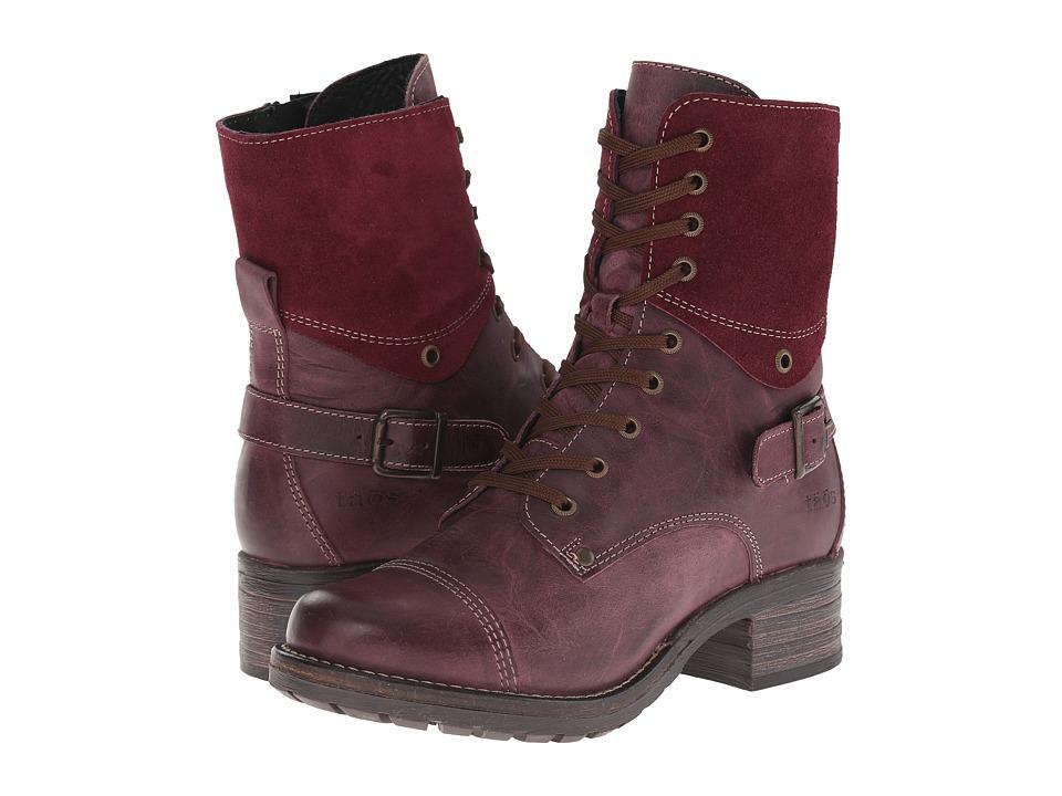 taos Footwear Crave Violet Womens Zip Boots