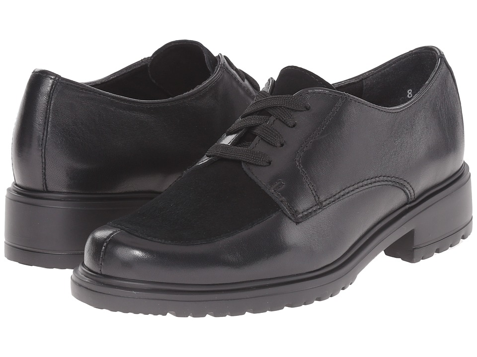 Munro American Veranda Black Leather/Suede Womens Lace up casual Shoes