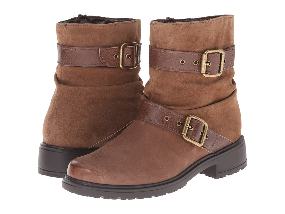 Munro American Dallas Brown Leather Womens Pull on Boots