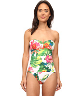 Tommy Bahama - White Tropical Bandeau One-Piece