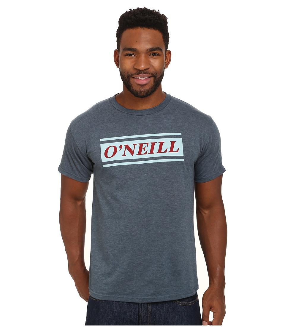ONeill Bar Short Sleeve Screen Tee Heather Navy Mens T Shirt