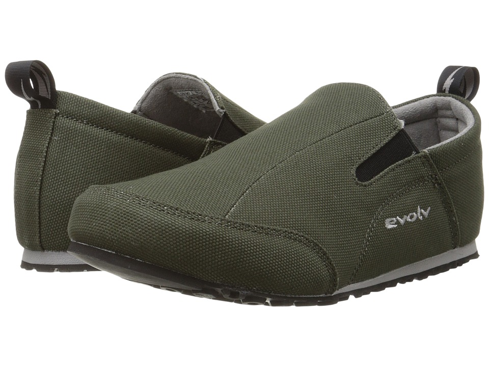 EVOLV Cruzer Slip On Olive Climbing Shoes