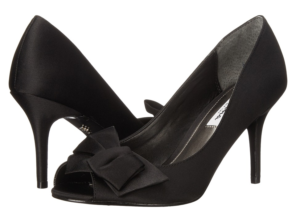 Nina - Fraser (Black Luster Satin) High Heels