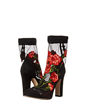 Dolce & Gabbana - Suede Pump w/ Floral Ankle Sock
