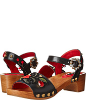 Dolce & Gabbana - Wood Base Sandal w/ Floral Applique