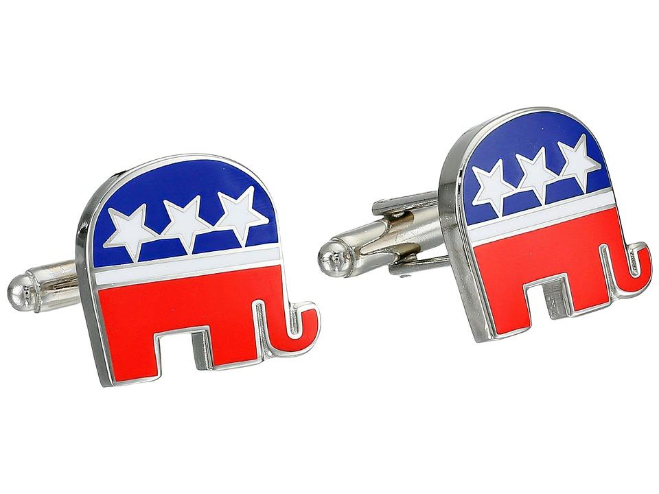 Cufflinks Inc. - Republican Elephant Cufflinks (Red) Cuff Links