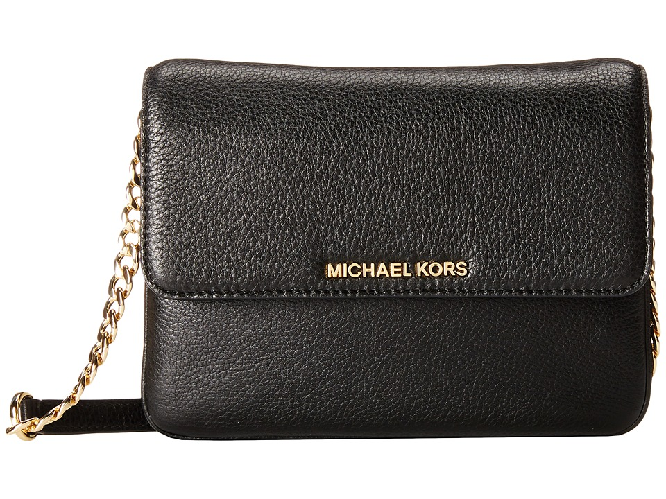 MICHAEL Michael Kors - Bedford Double Gusset Crossbody (Black) Cross Body Handbags