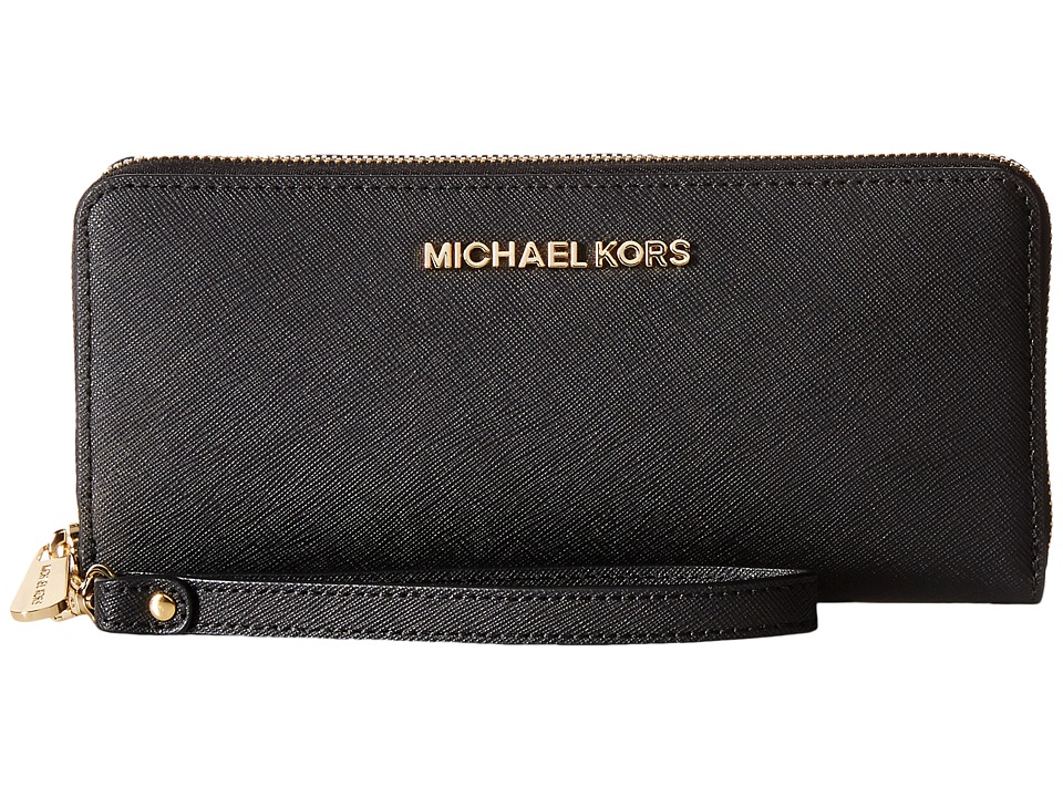 Michael Kors Jet Set Travel Travel Continental (Black) Cl...