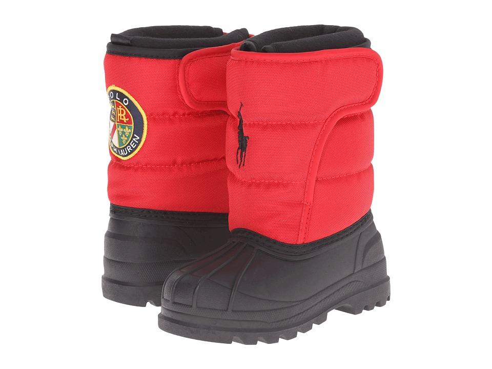 Polo Ralph Lauren Kids Hamilten EZ Toddler Red Nylon/Black Boys Shoes