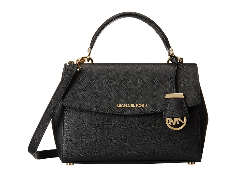 MICHAEL Michael Kors - Ava Small Top-Handle Satchel (Black) Satchel Handbags