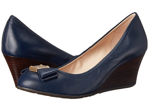 Cole Haan Tali Grand Bow Wedge 65 - Blazer Blue