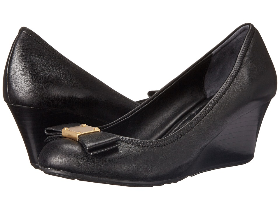 Cole Haan Tali Grand Bow Wedge 65 (Black) Wedges