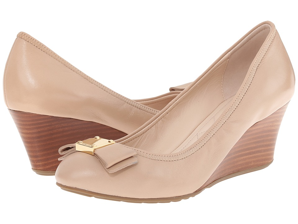 Cole Haan Tali Grand Bow Wedge 65 (Maple Sugar) Women's W...