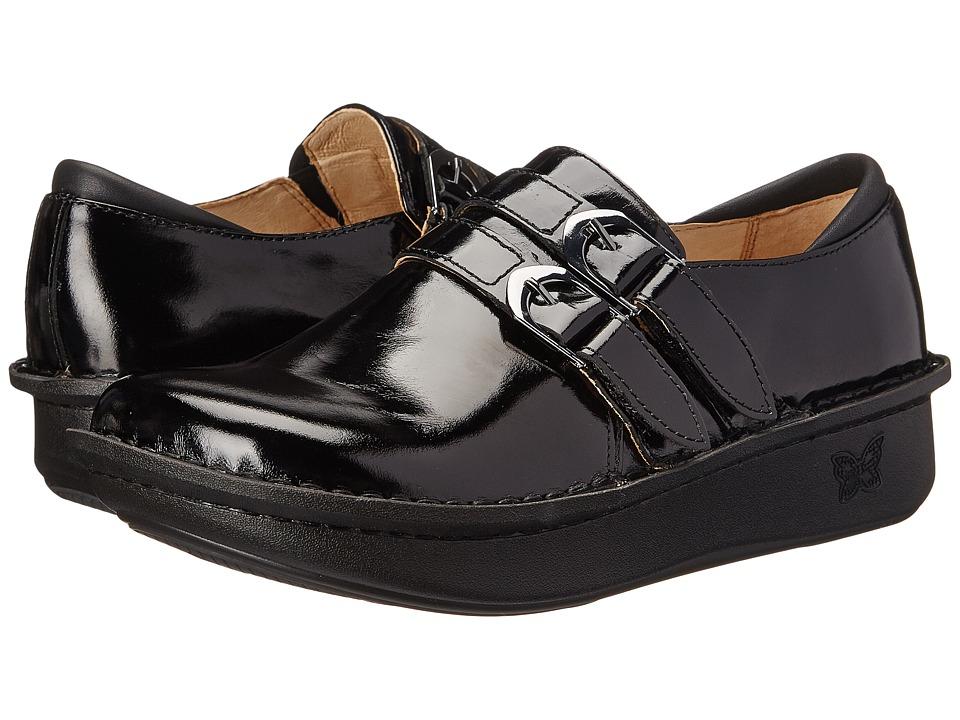Alegria Alli Professional Black Waxy Womens Clog Shoes