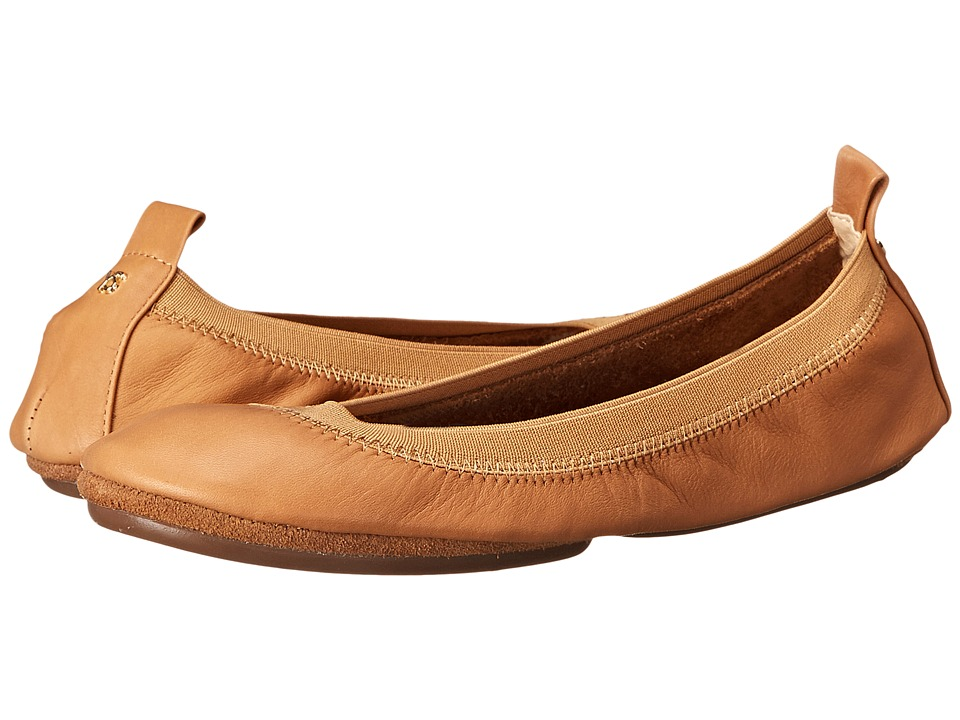 Yosi Samra Alsina Leather Ballet Flat Whiskey Womens Flat Shoes