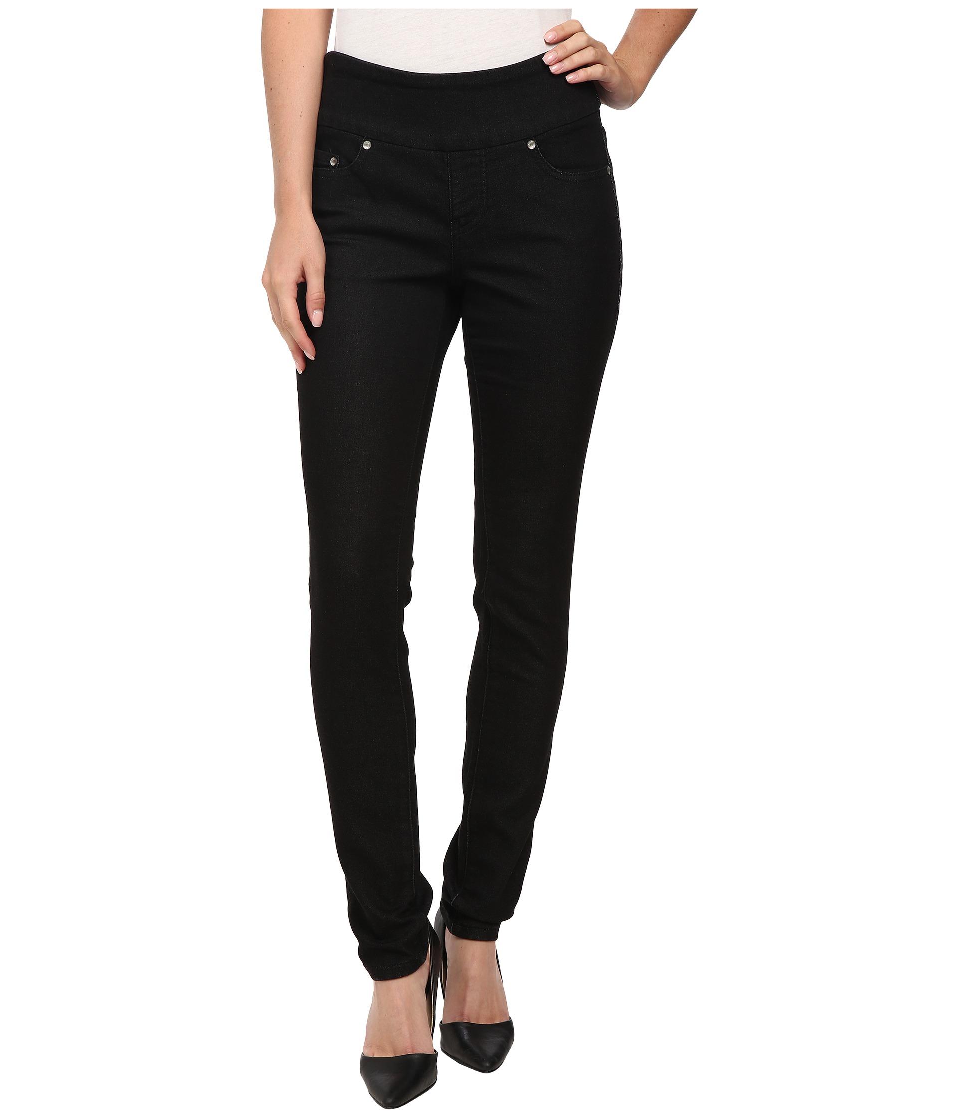Jag Jeans Nora Pull-On Skinny Knit Denim in Black Rinse at Zappos.com