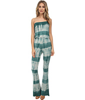 Chaser - Tie-Dyed Drape Back Bell Bottom Jumpsuit