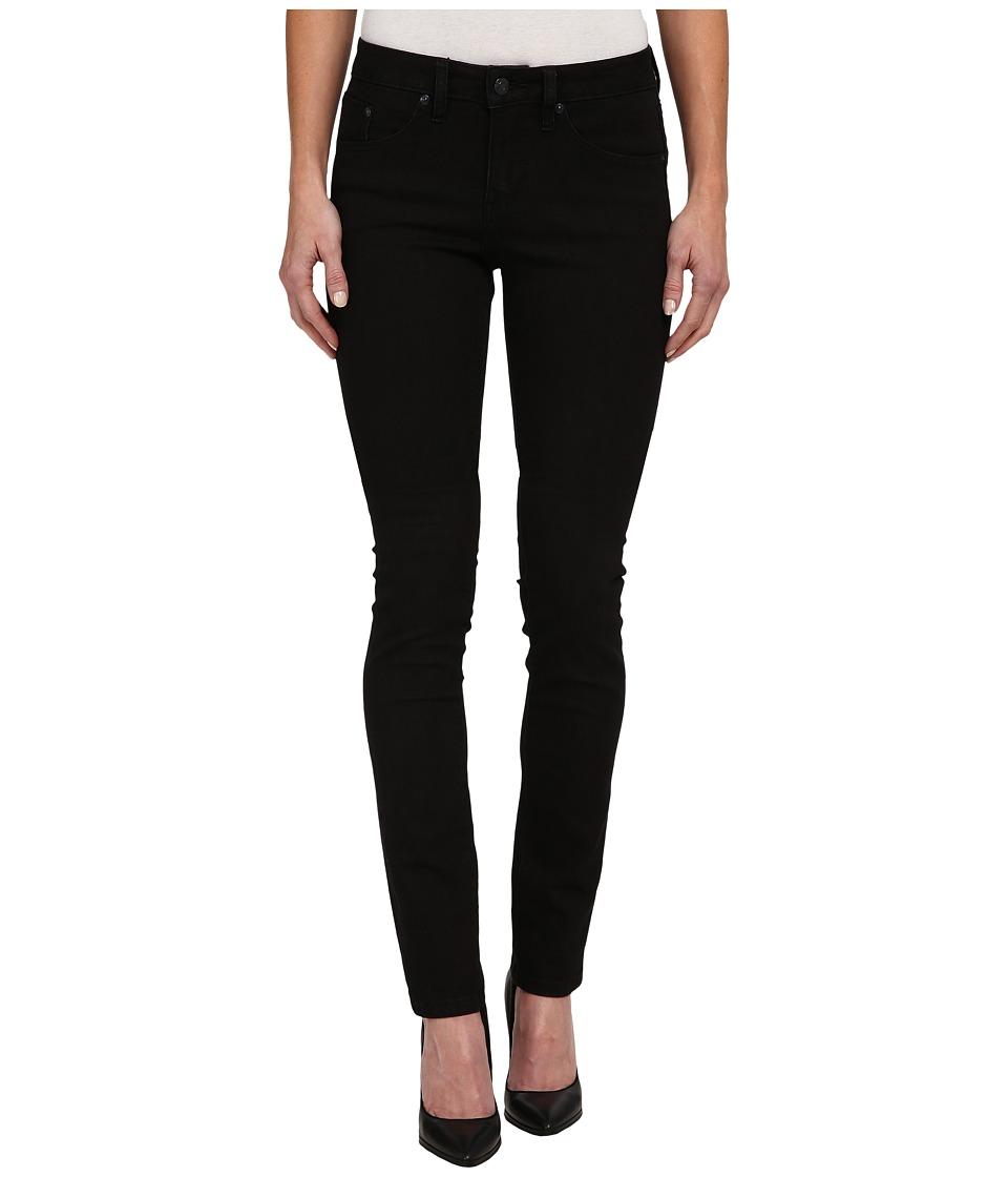 Jag Jeans Hayward Mid Rise Slim Alpha Denim in Black On Black Black On Black Womens Jeans