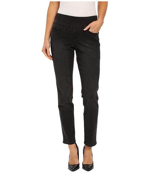 Jag Jeans Lanna Pull-On Slim Patterned Denim in Houndstooth Black