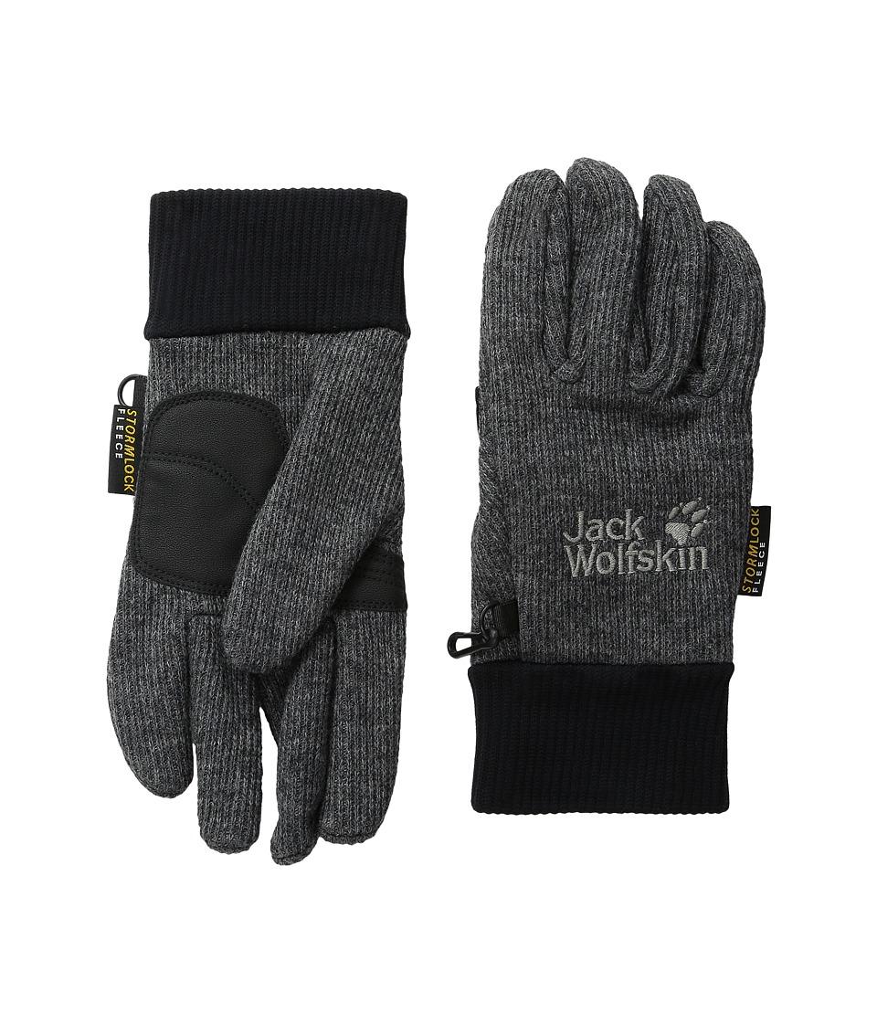 Jack Wolfskin Knitted Stormlock Glove (Phantom) Extreme Cold Weather Gloves