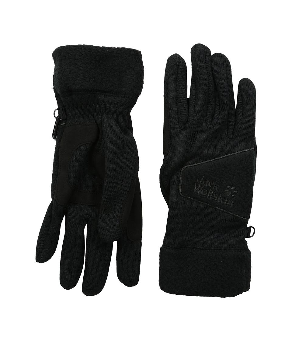 Jack Wolfskin Caribou Glove (Black) Extreme Cold Weather Gloves