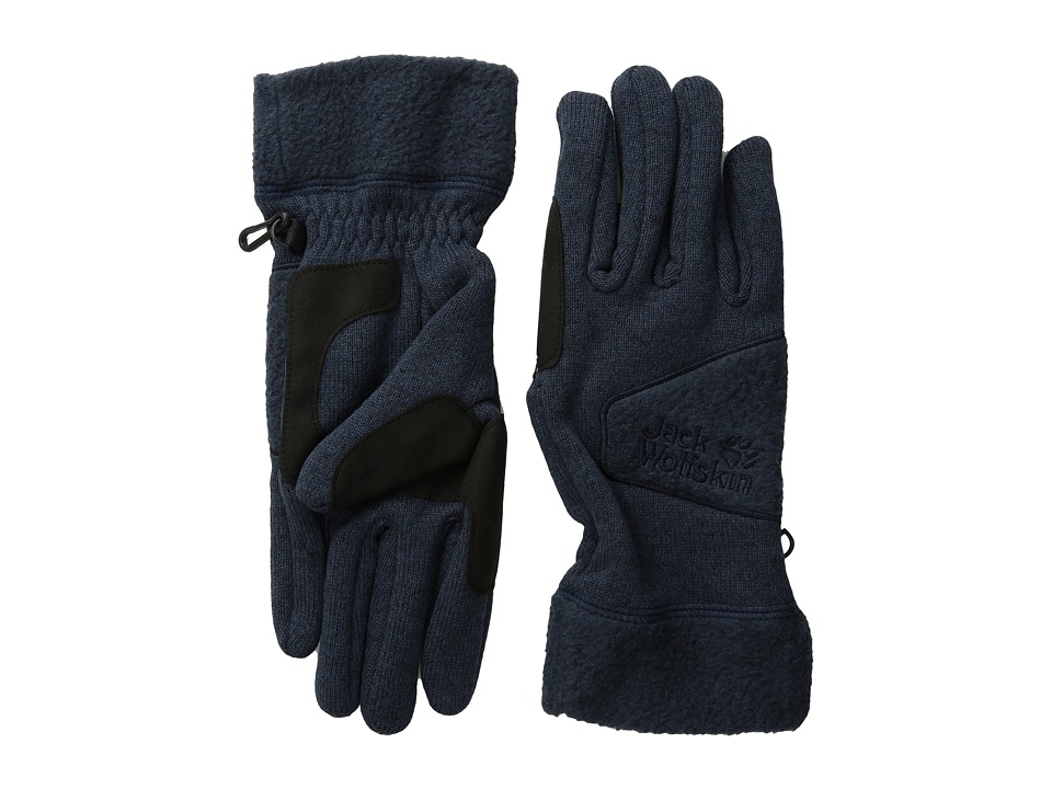 Jack Wolfskin Caribou Glove (Night Blue) Extreme Cold Weather Gloves