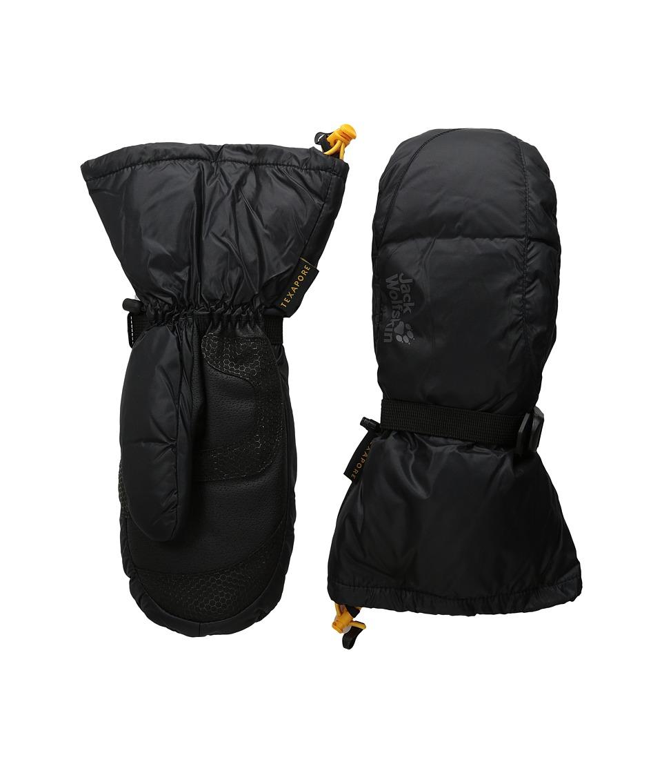 Jack Wolfskin Texapore Down XT Mitten (Black) Extreme Cold Weather Gloves