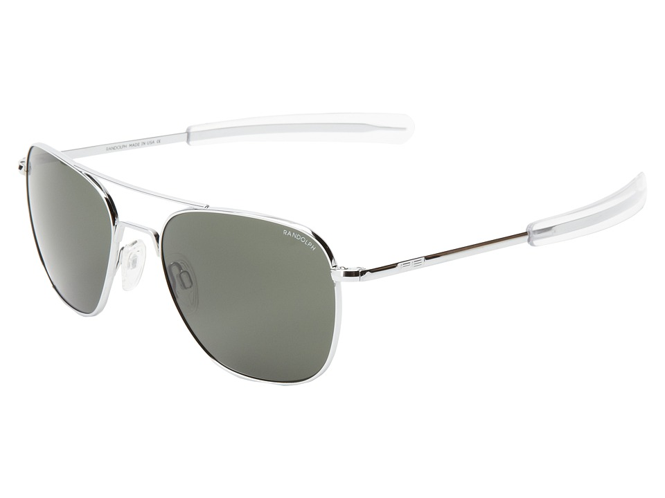 Randolph Aviator 58mm Bright Chrome/AGX Glass Fashion Sunglasses