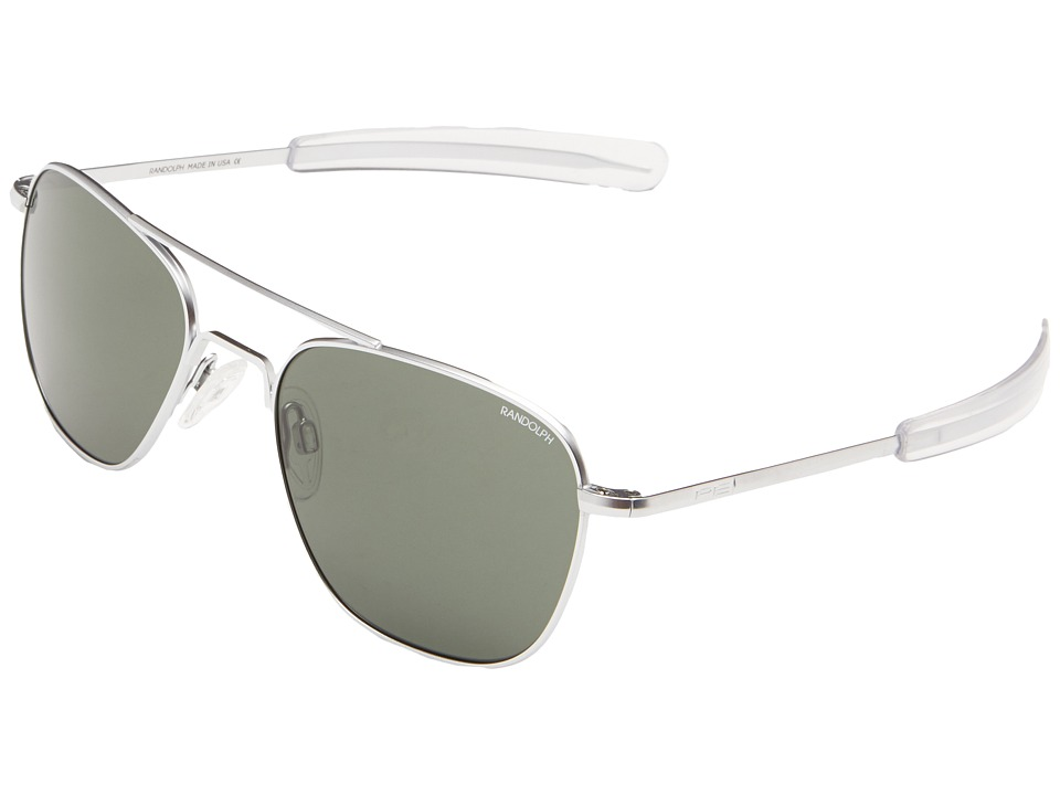 Randolph Aviator 55mm Matte Chrome/AGX Glass Fashion Sunglasses
