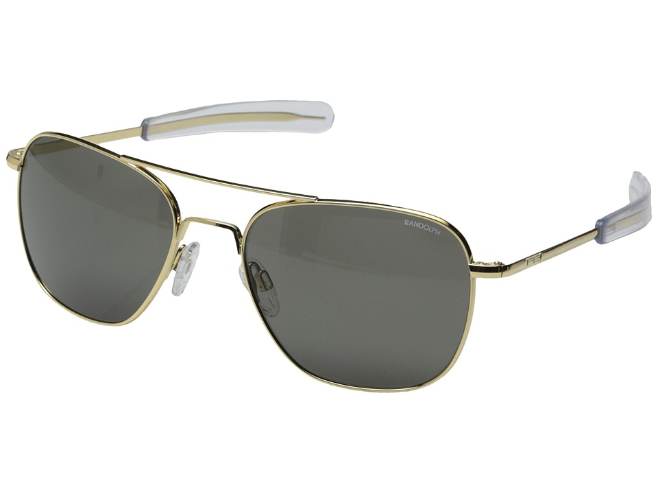 Randolph Aviator 58mm 23k Gold/Gray Glass Fashion Sunglasses