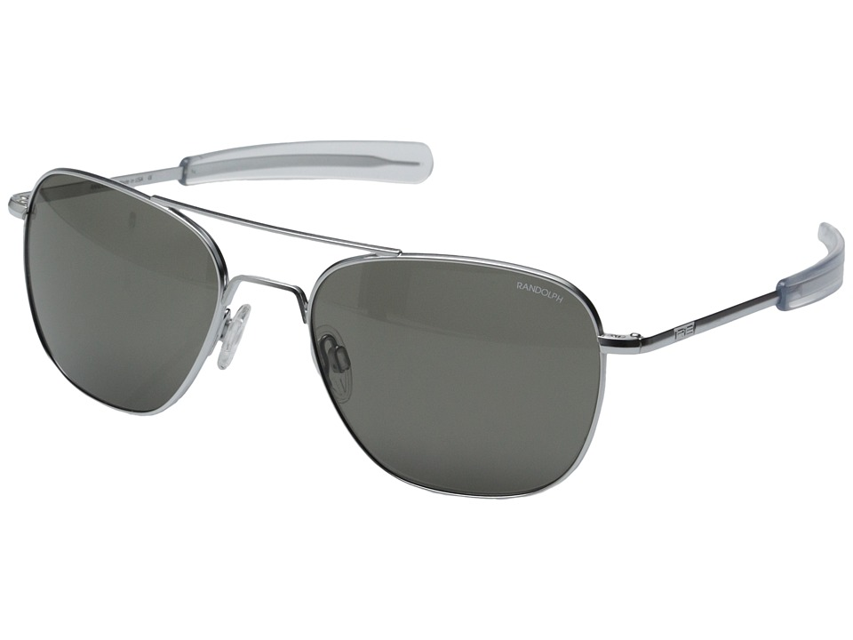 Randolph Aviator 58mm Matte Chrome/Gray Glass Fashion Sunglasses