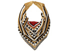 Gypsy SOULE Tribal Beaded Collar Scarf Necklace (Tan/Black/White/Red)