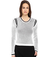 HELMUT LANG - Modern Mesh Crop Pullover Sweatshirt
