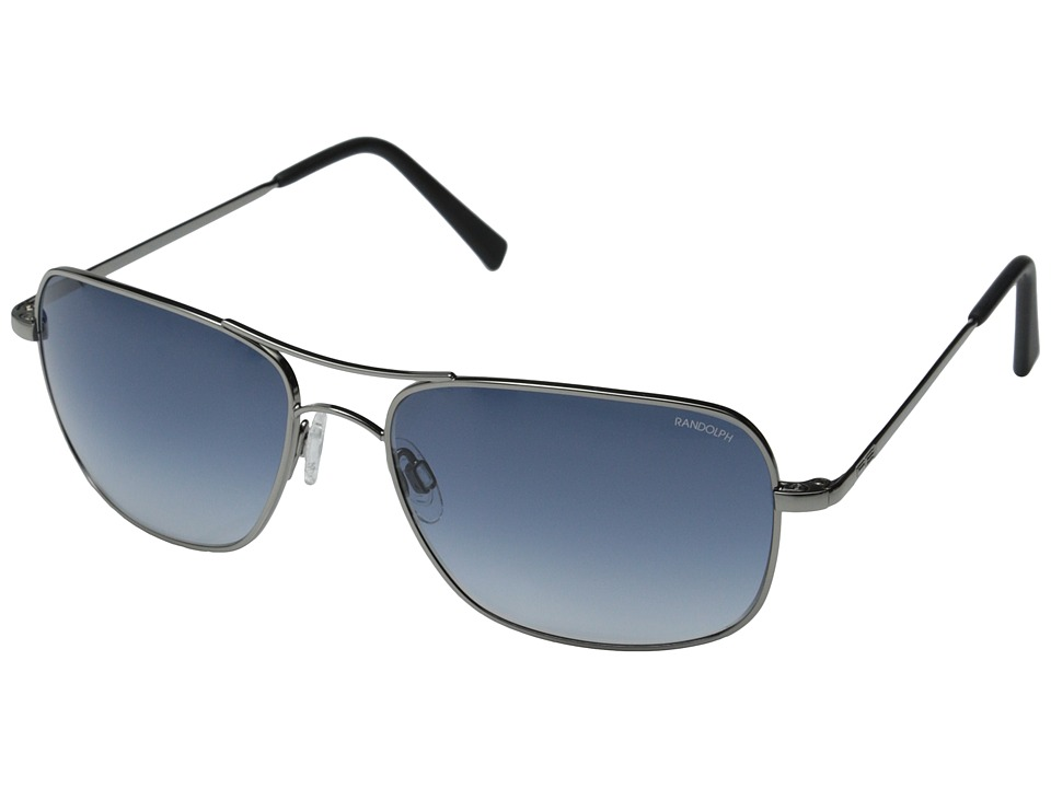 Randolph Archer 59mm Dark Ruthenium Polished/Blue Gradient Nylon Fashion Sunglasses