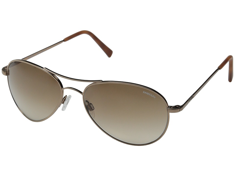 Randolph Amelia 57mm Chocolate Gold/Tan Gradient Nylon Fashion Sunglasses