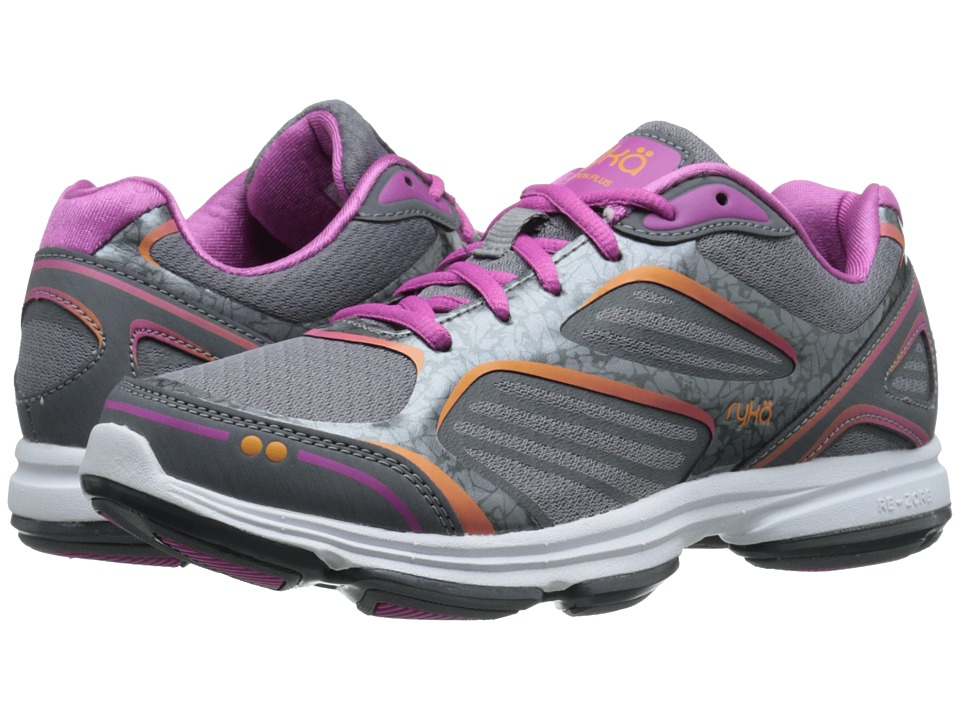 Ryka Devotion Plus Frost Grey/Steel Grey/Rose Violet/Rhythm Orange Womens Shoes