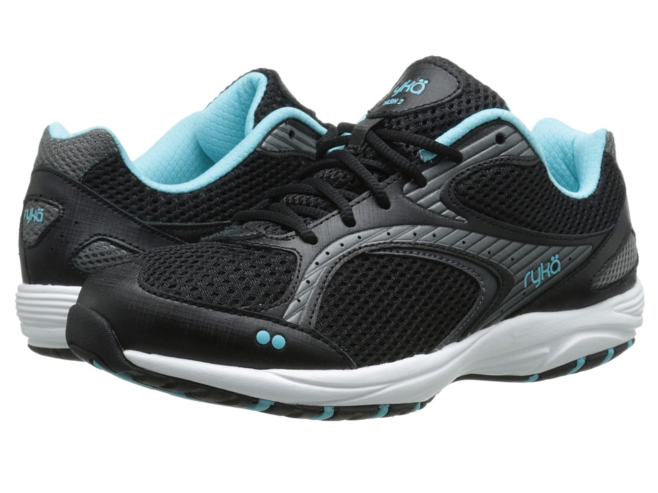 Ryka Dash 2 Black/Metallic Iron Grey/Winter Blue/White Womens Shoes