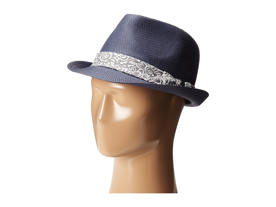 Ted Baker Denord Woven Band Trilby Navy Fedora Hats