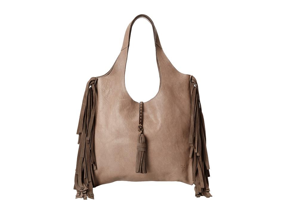Frye - Farrah Fringe Bag (Grey Buffalo Leather) Top-handle Handbags