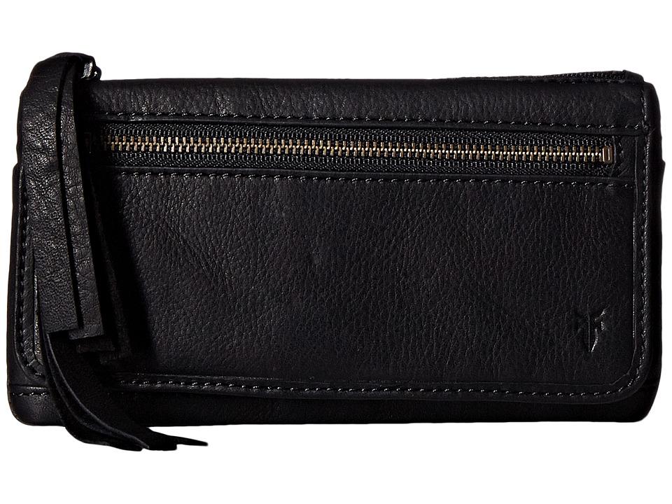 Frye - Heidi Wallet (Black Soft Vintage Leather) Wallet Handbags